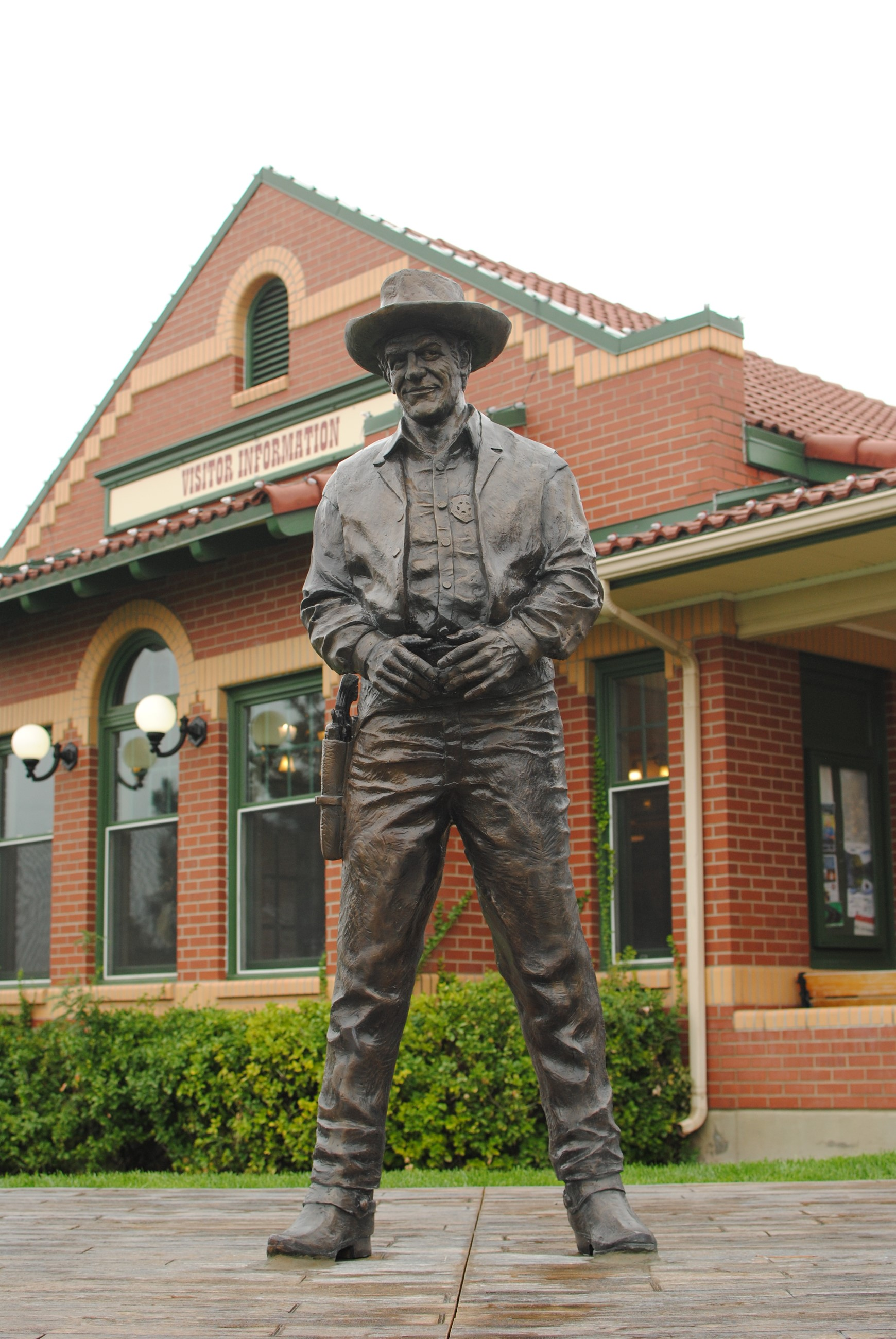 Statue in front of Visitor Information