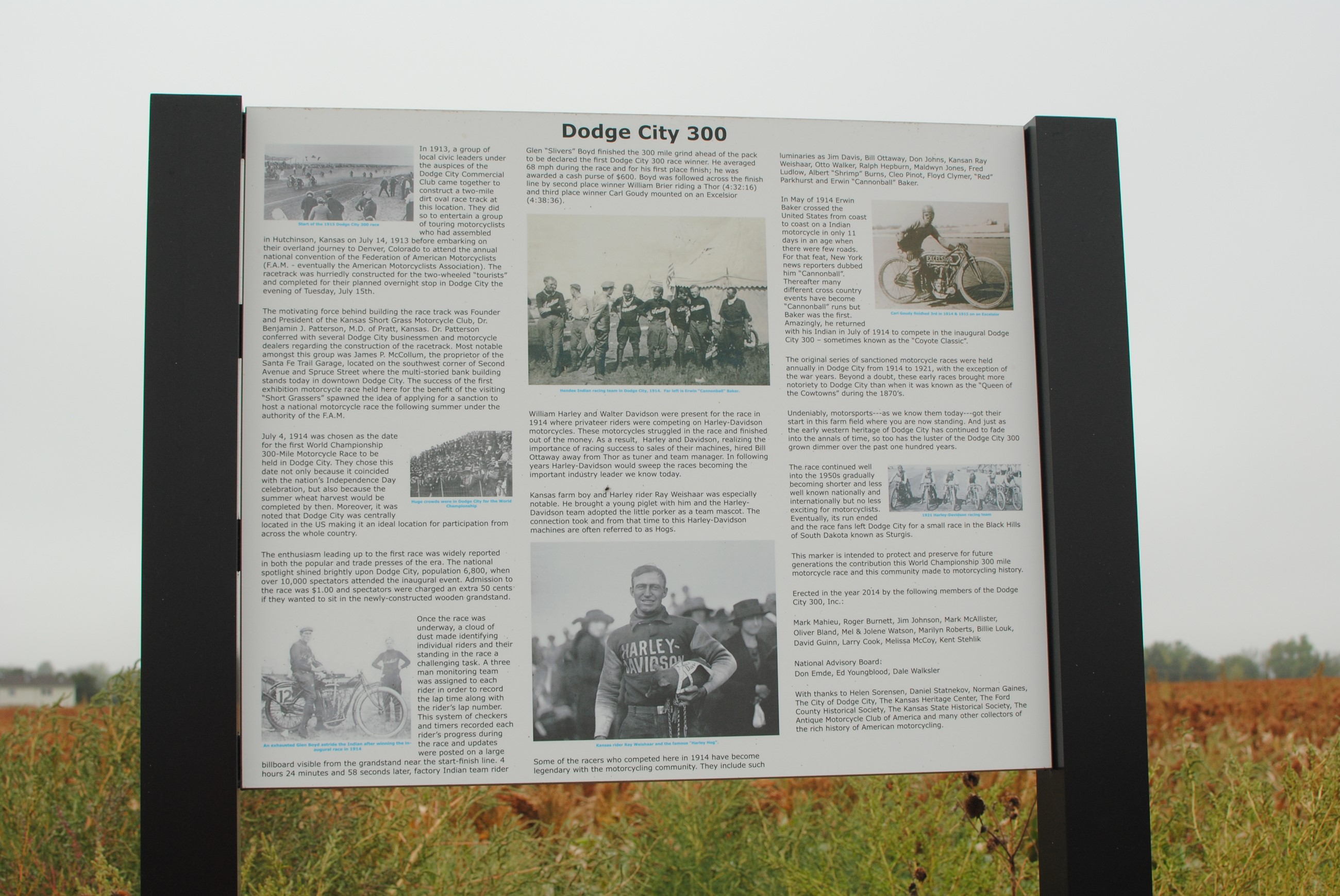 History of Dodge City Sign
