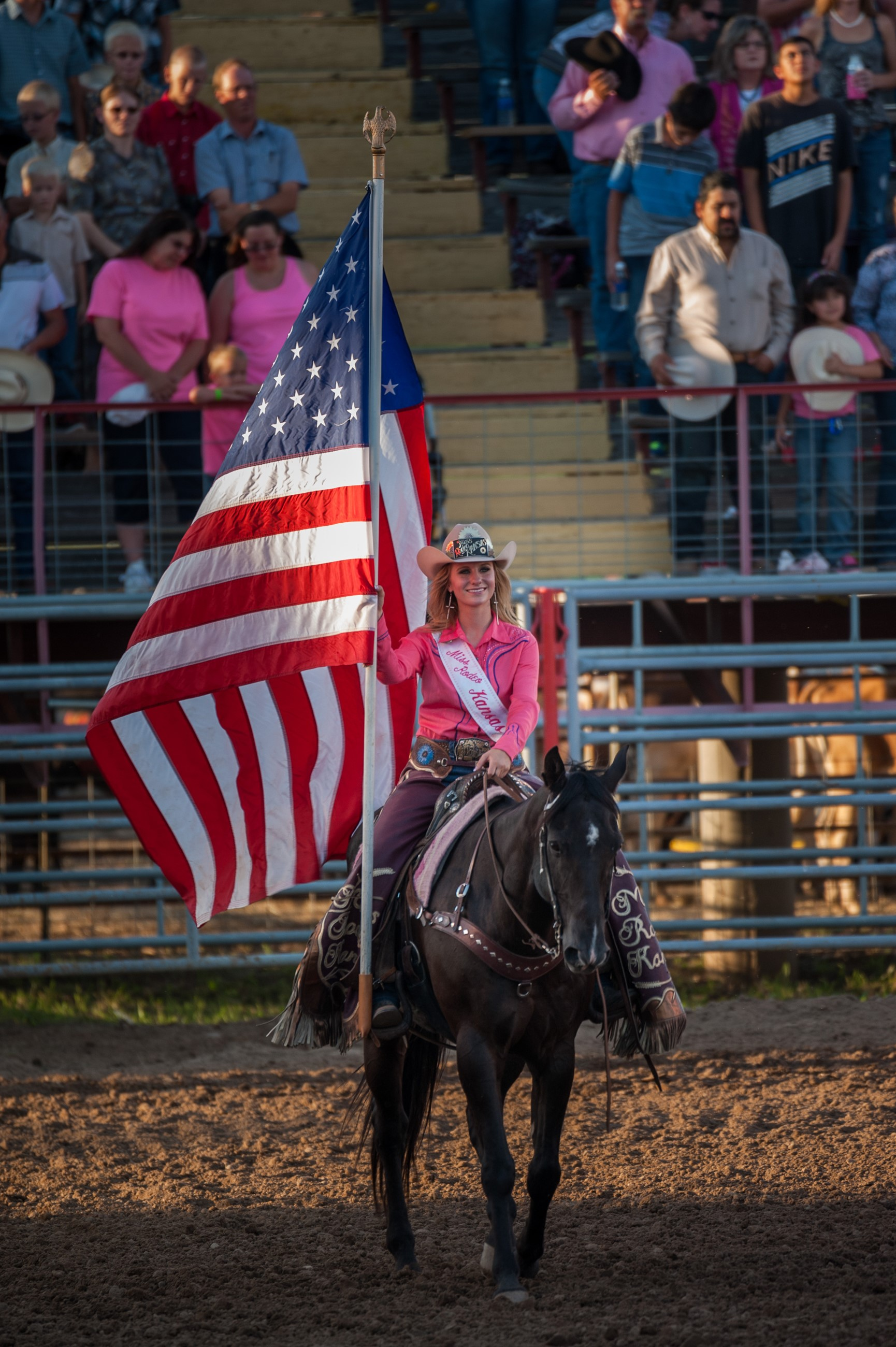 Roundup Rodeo American Flag