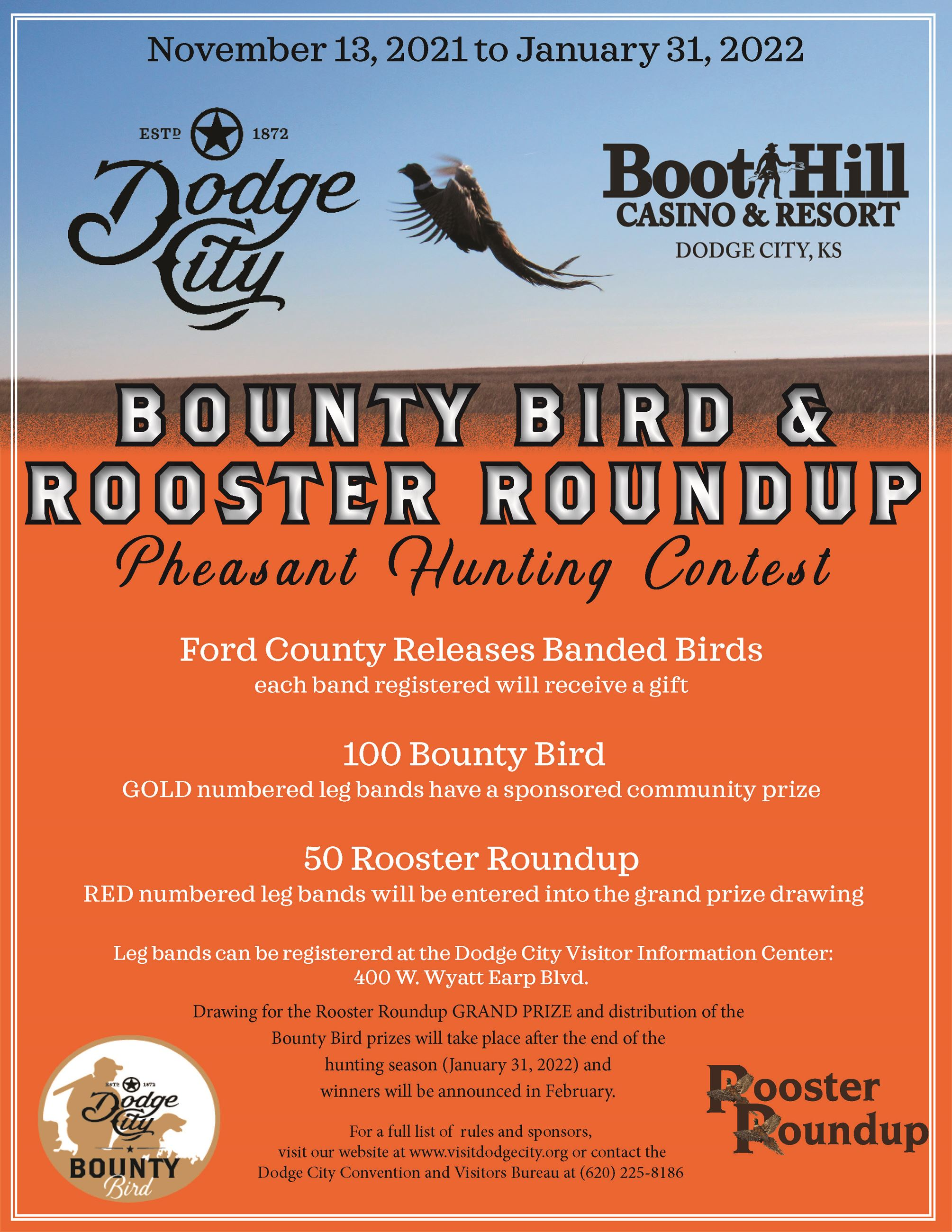Ford County Pheasant Hunting Contest - Bounty Bird 2020-2021