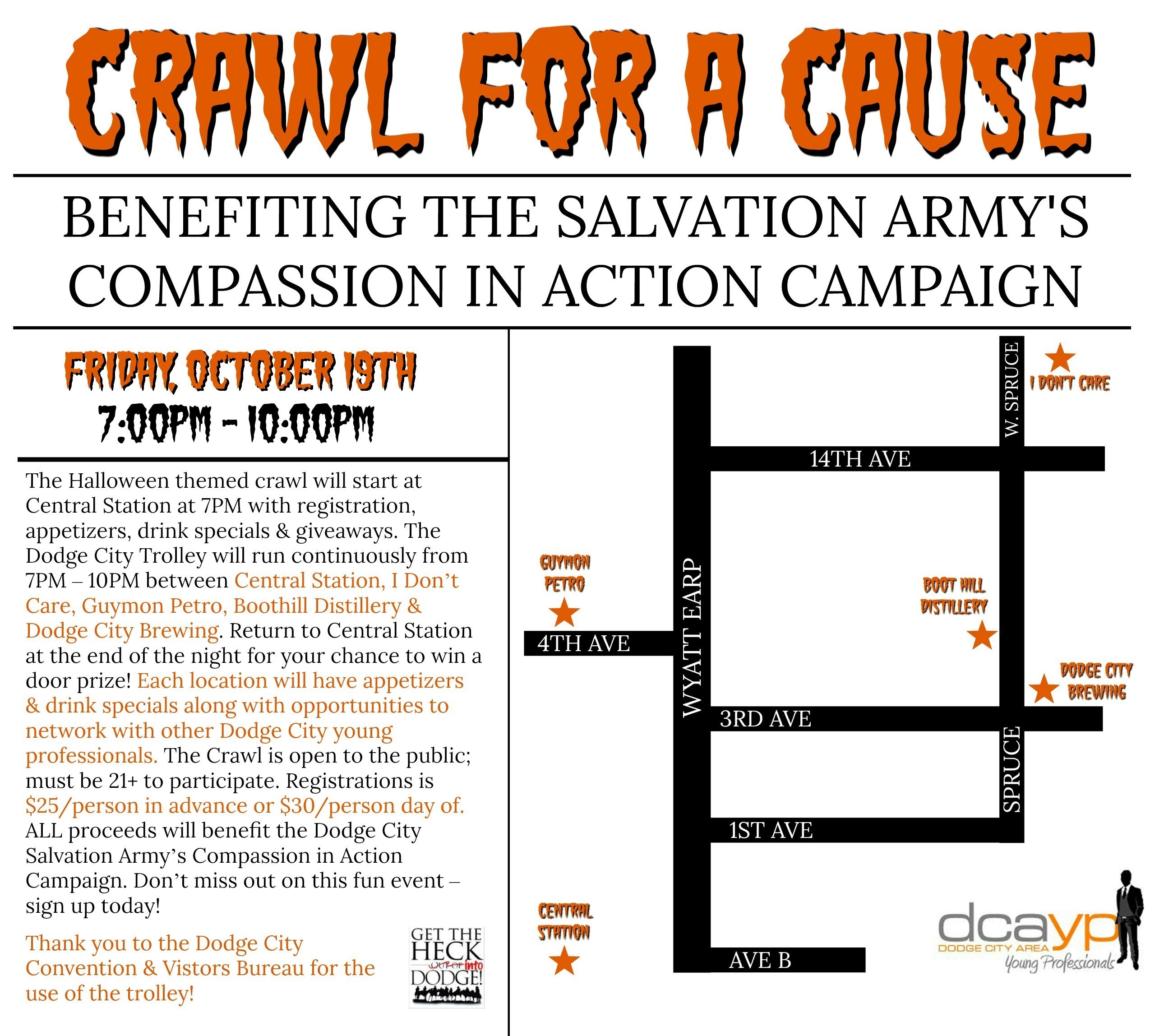 Salvation Army Crawl for a Cause Flyer