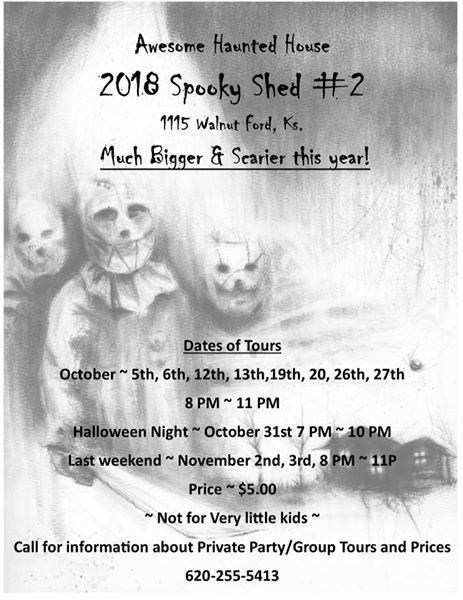 Spooky Shed 2 Haunted House - Ford KS