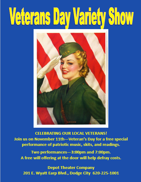 Veterans Day Variety Show Flyer