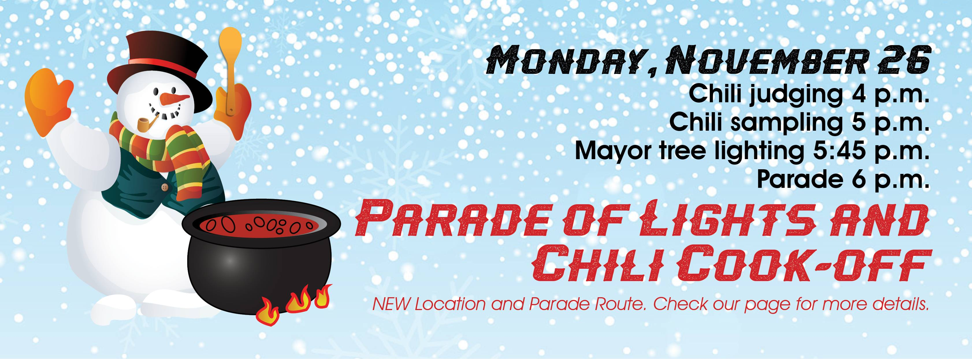 Parade of Lights and Chili Cook-Off