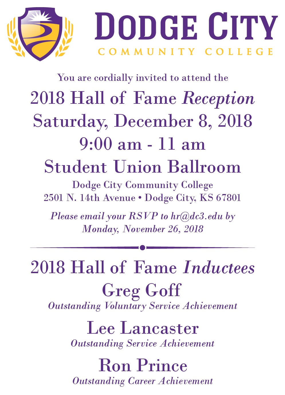 2018_12_08 - DC3 Hall of Fame Reception
