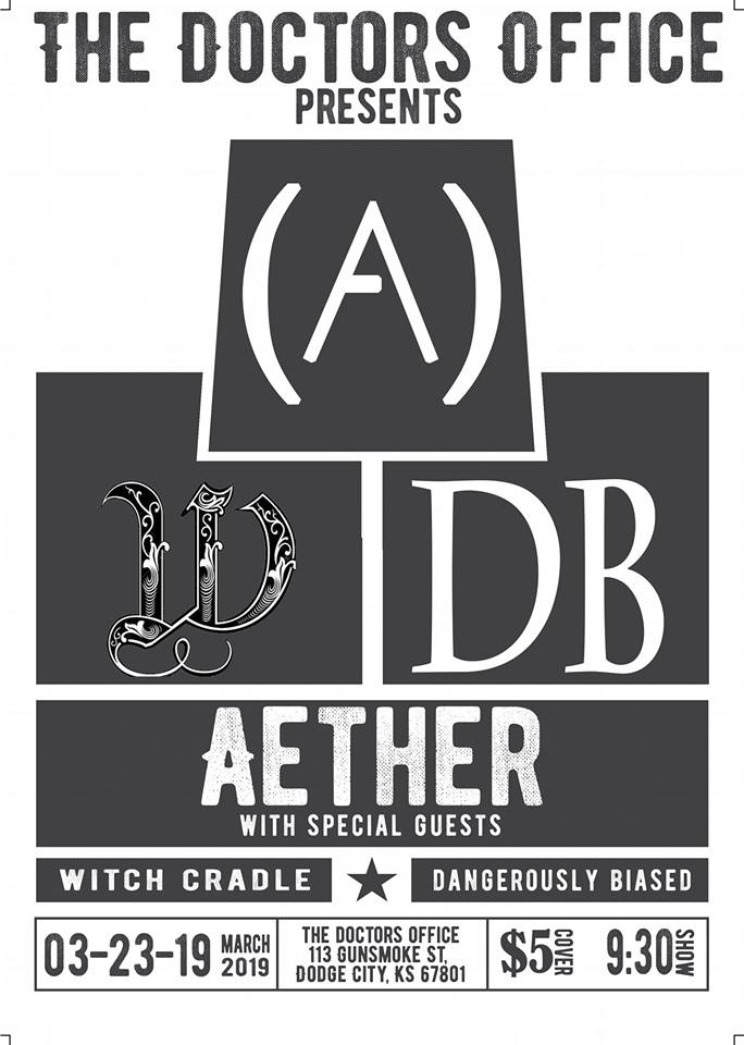 The Doctors Office Bar- Aether-Witch Cradle-Dangerously Biased LIVE