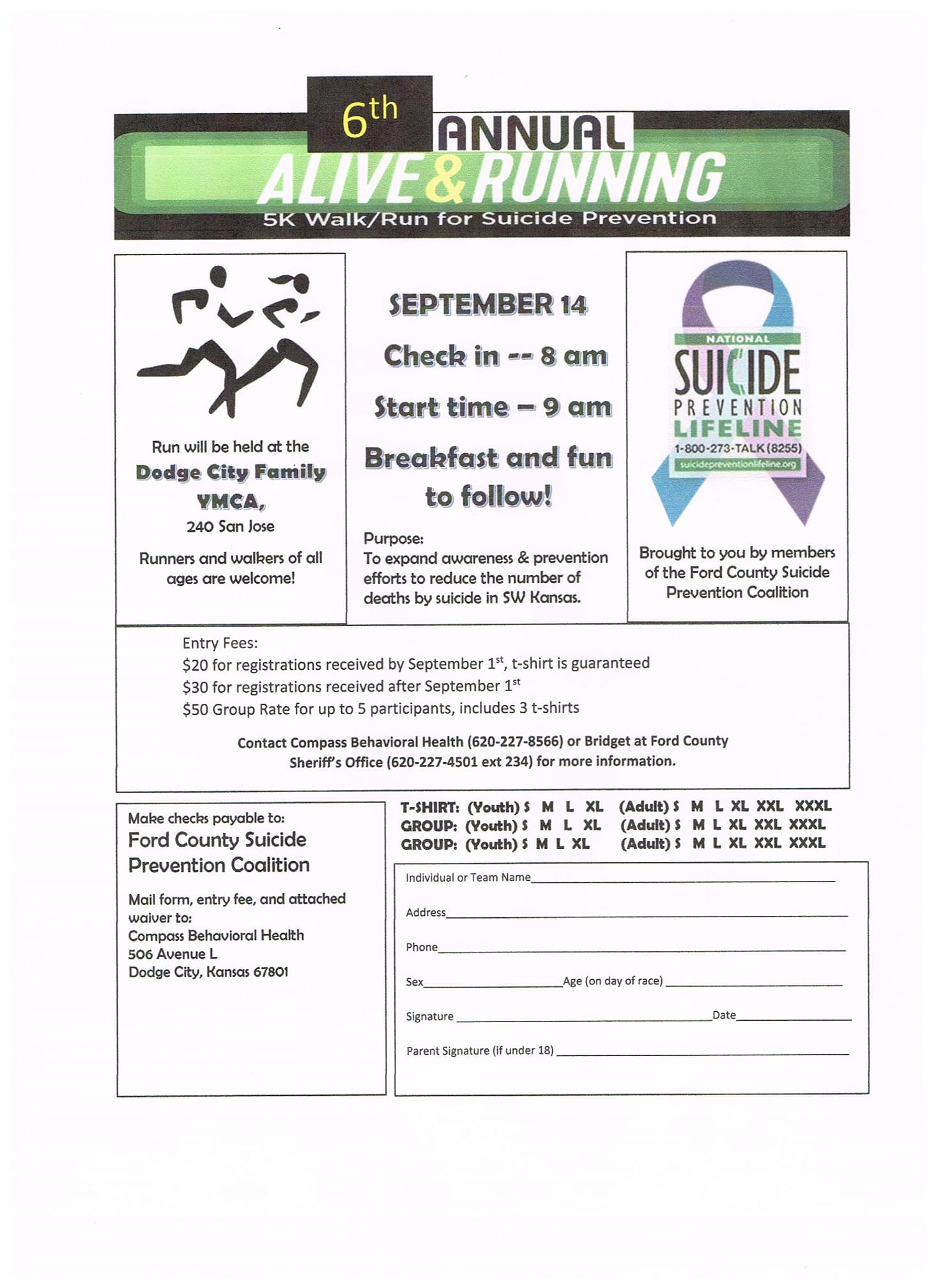 Alive And Running 5K Walk / Run for Suicide Prevention