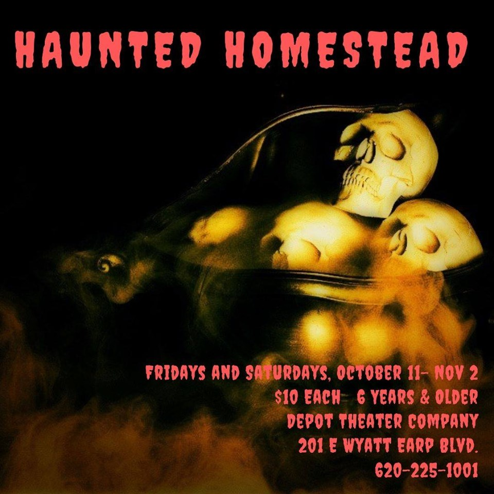 Haunted Homestead Depot Theater Flyer