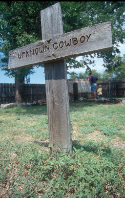 Marker of unknown cowboy