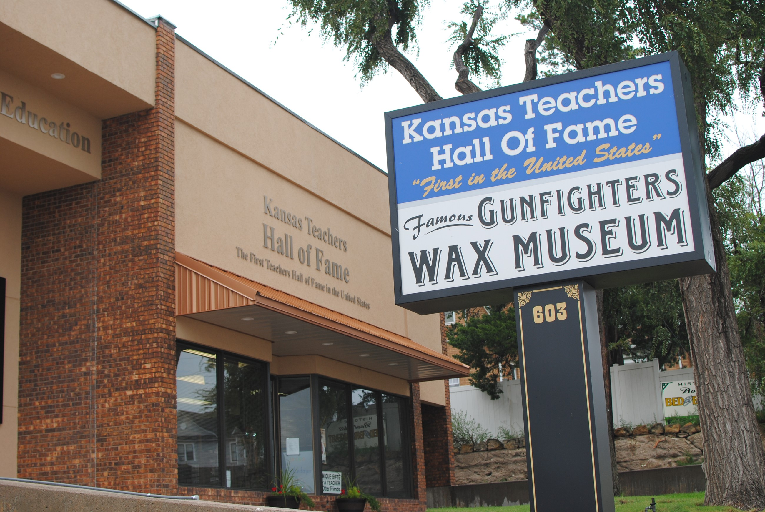 Kansas Teachers Hall of Fame Gunfighters Wax Museaum Sign