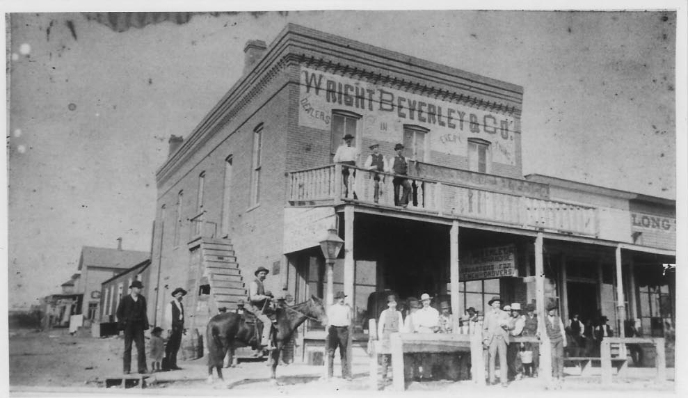 Black and White Photo of the Original General Store in Dodge City, Kansas