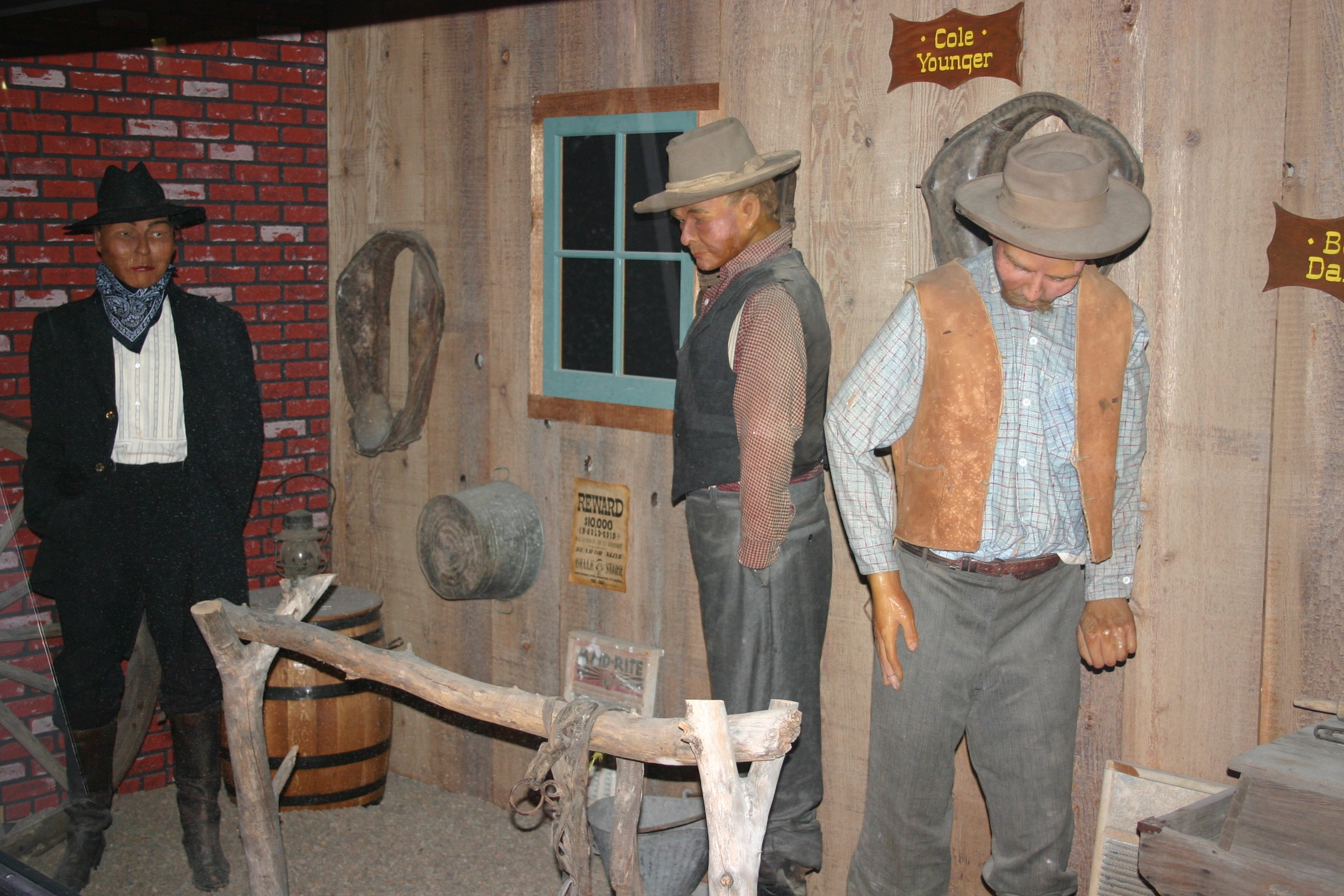 Western Cowboys in the Gunfighters Wax Museum in Dodge City, Kansas